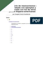 Garcia Icazbalceta Joaquin - Vocabulario de Mexicanismos