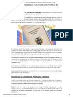 Estructura de la Constitución Política de Colombia