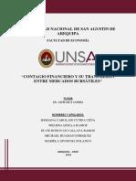 Analisis Del Contagio Financiero - Estado de Arte