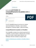 Erro de Permissão No Compartilhamento de Pastas Com o VirtualBox