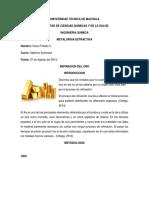 Refinacion Del Oro