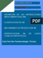 11. Interacciones medicamentosas