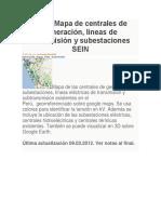 Subestaciones en El Perú
