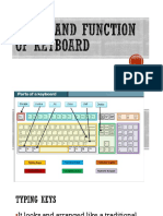Parts and Function of Keyboard