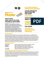 Skim Plaster data sheet