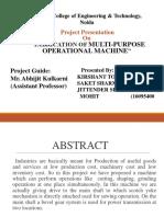 Multi Purpose Machine Ppt