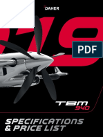 2019 TBM 940 Technical Specifications Price List