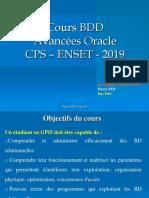 Cours BDD Avancées Oracle - 2019