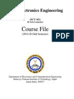 Basic Electronics ECT101 Course File - MNIT 23072019