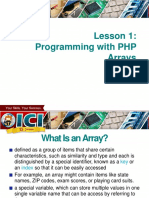 PHP Advanced Series 1 - The Array Data Type