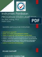 Instrumen Penilaian Program Studi LAMSAMA