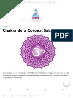 Chakra de La Corona.
