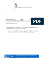 Taller 2- Ecuaciónes Sistema 2x2- 2018-I