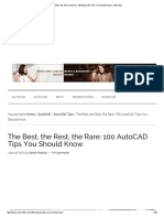 The Best, The Rest, The Rare_ 100 AutoCAD Tips You Should Know _ CADnotes