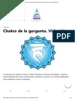 Chakra de La Garganta.