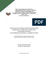 Unefa Estrategias Para Mejorara El Proceso de Solicitud de Materiales. Logistica