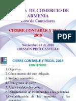 Cierre contable y fiscal 2018 Colombia