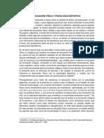 Educación Física y Psicología Deportiva