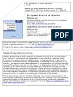 European Journal of Science Education Volume 7 Issue 1 1985 [Doi 10.1080_0140528850070101] Stewart, James -- Cognitive Science and Science Education