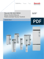 Rexroth-RD 500 RD52 Drive Control Device Field-oriented Vector Control Application Manual