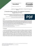 A Simulation Study of Inverter Air Conditioner Con