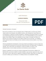Papa Francesco 20190522 Udienza Generale