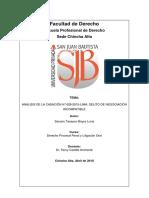 Analisis de Casacion Penal 628-2015 Lima