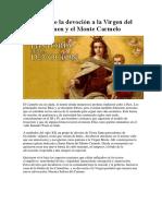 Origen de La Devoción a La Virgen Del Carmen y El Monte Carmelo