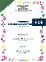 Accomplishment Report 2016 2017