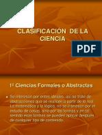 Clasfiicación de la Ciencia