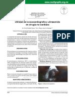 Utilidad de La Ecocardiografía y Ultrasonido en Cx Cardiaca