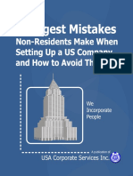 7 Biggest Mistakes Non Residents Make When Setting Up a US Company and How to Avoi
