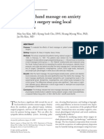 Effects of hand massage on anxiety in cataract surgery using local anesthesia
