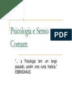 Psicologia e Senso Comum