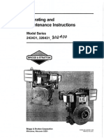 Operating and maintenance instructions for Briggs and Stratton models 243431, 326431, and 302400