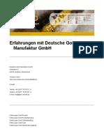 Deutsche Gold Manufaktur GmbH Erfahrungen