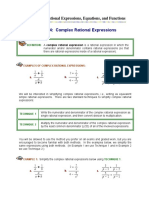 Module4 Complex Rational Expressions