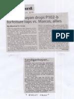 Manila Standard, Aug. 8, 2019, Sandiganbayan drops P102-b forfeiture raps vs. Marcos, allies.pdf