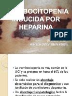 TROMBOCITOPENIA INDUCIDA POR HEPARINA