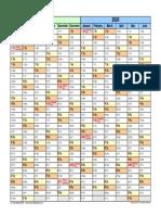 Split Year Calendar 2019 2020 Landscape