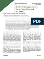 Response and Behavior of Rajungan Portunus pelagicus on the Use of Natural Bait and Artificial Bait PVa Chamois