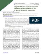 Bioeconomic Analysis of Resource Utilization of Flying Fish (Hyrundicthys oxycephalus) in the Makassar Strait, South Sulawesi, Indonesia