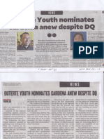 Philippine Daily Inquirer, Aug. 8, 2019, Duterte Youth nominates Cardema anew despite DQ.pdf