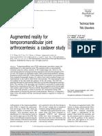 Augmented Reality for Temporomandibular Joint Arthrocentesis a Cadaver Study