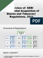 Overview of SEBI Takeover Regulations, 2011