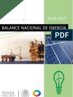 BALANCE NACIONAL DE ENERGÍA 2010-2017