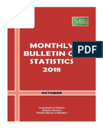 Monthly Bulletin of Statistics October, 2018