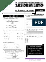 Álgebra 4 Grado