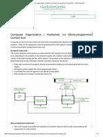 Computer Organization _ Hardwired V_s Micro-programmed Control Unit - GeeksforGeeks