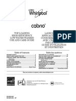 Use and Care_EN Whirlpool WTW8800YC0